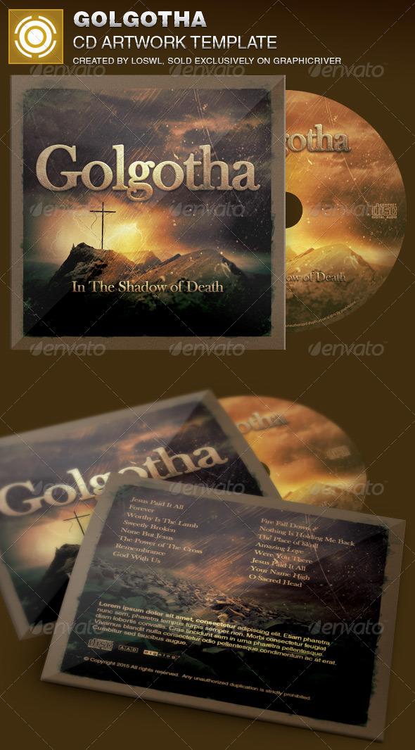 Golgotha Church CD Artwork Template - CD & DVD Artwork Print Templates