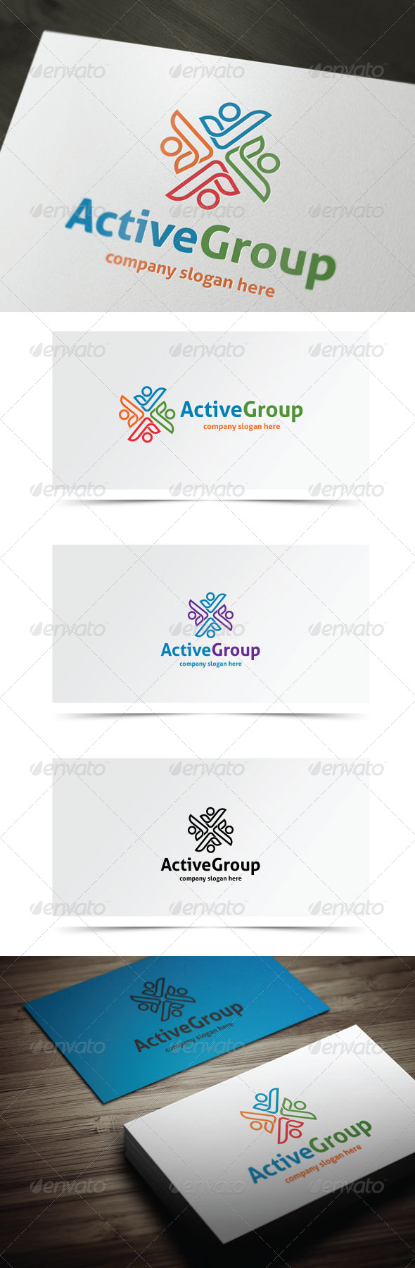 Active Group - Humans Logo Templates