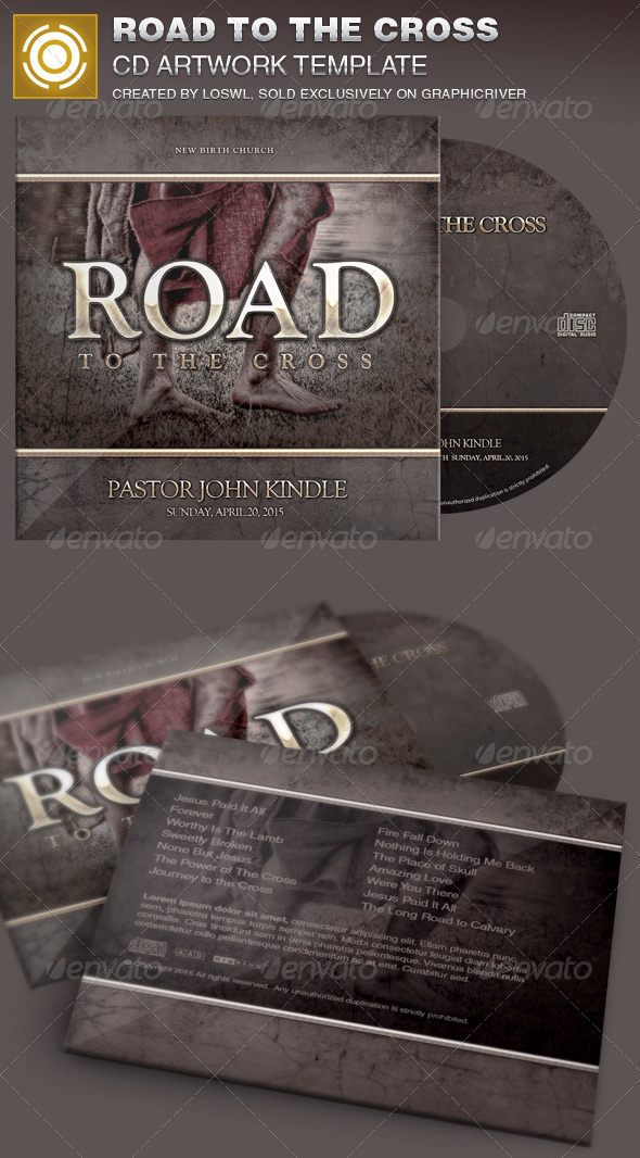 Road to the Cross Church CD Artwork Template - CD & DVD Artwork Print Templates