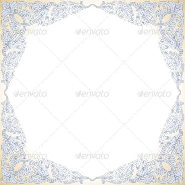 Frame with Baroque Ornaments - Borders Decorative