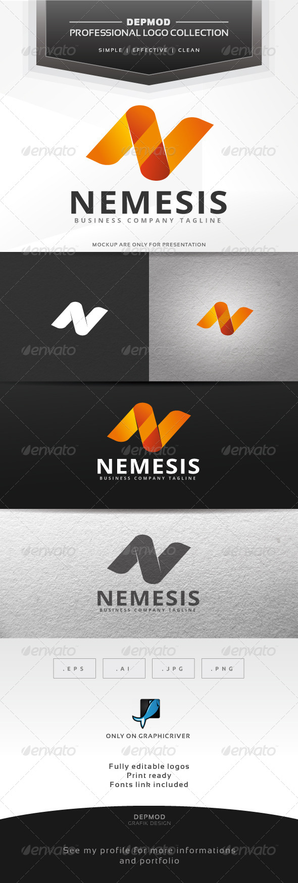Nemesis Logo - Letters Logo Templates