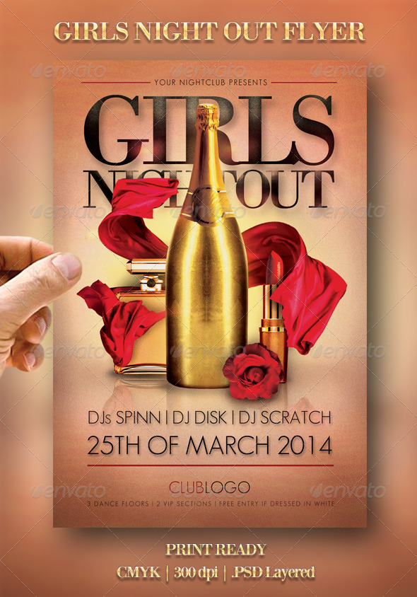 Girls Night Out Flyer - Events Flyers
