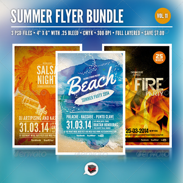 Summer Party Bundle Vol. 11 - Clubs & Parties Events