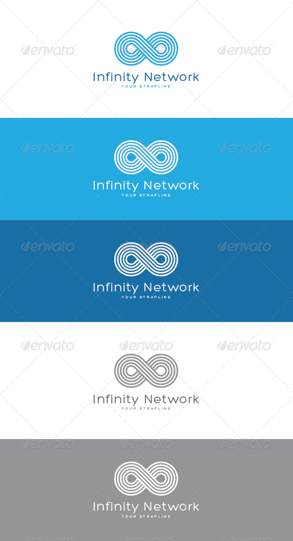 Infinity Network Logo - Vector Abstract