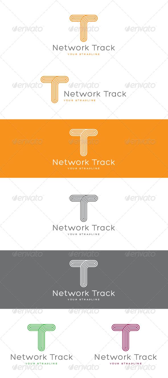 Network Track Letter T Logo - Letters Logo Templates