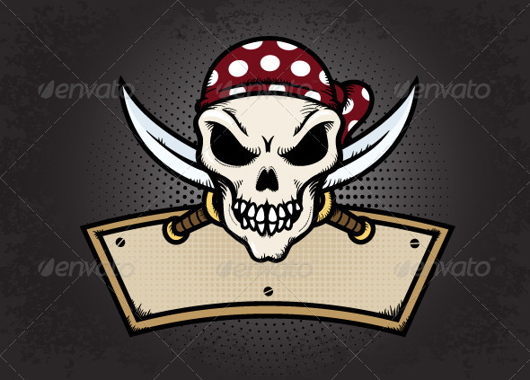 Pirate Skull - Objects Vectors