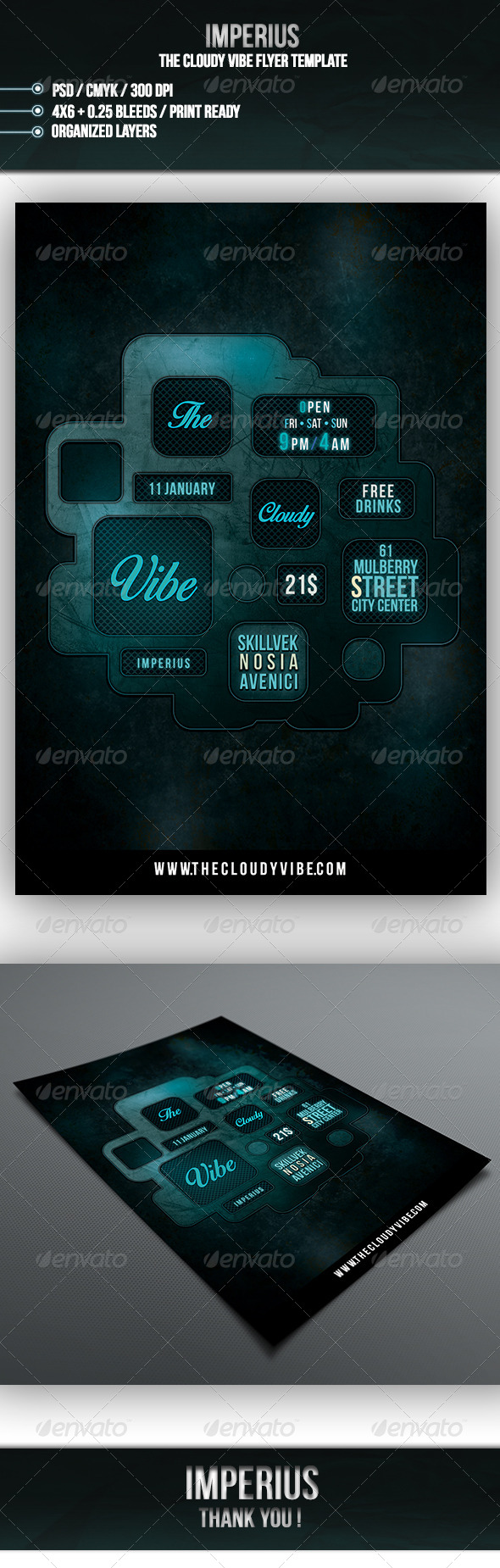 The Cloudy Vibe Flyer - Clubs & Parties Events