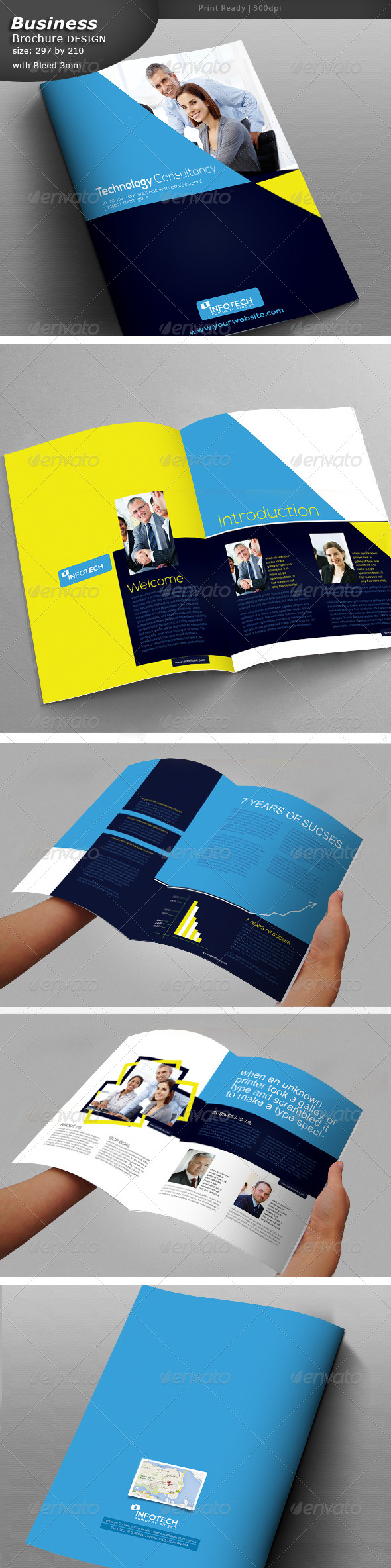 Business Brochure 8 Pages  - Brochures Print Templates