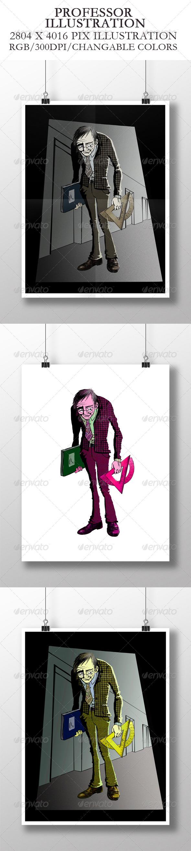 Professor Illustration - People Illustrations