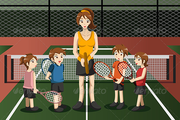 Kids in a Tennis Club - Sports/Activity Conceptual