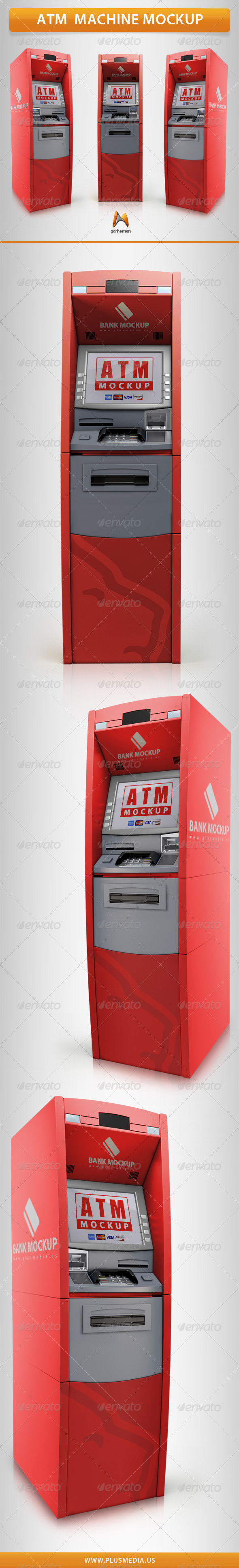 ATM Machine Mockup - Product Mock-Ups Graphics