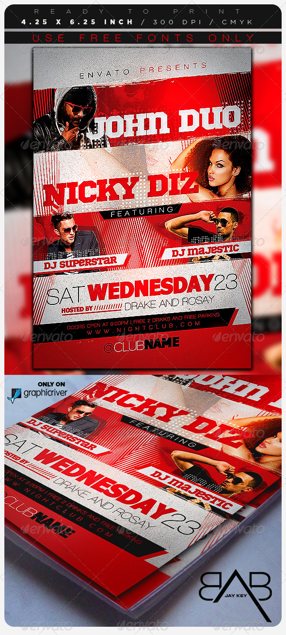 Music Event Party Flyer - Clubs & Parties Events