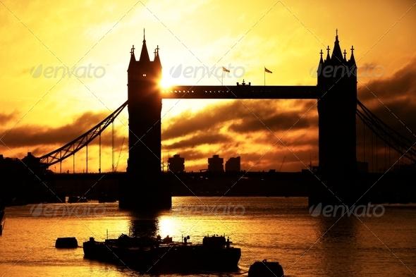 Tower Bridge at sunrise - Stock Photo - Images