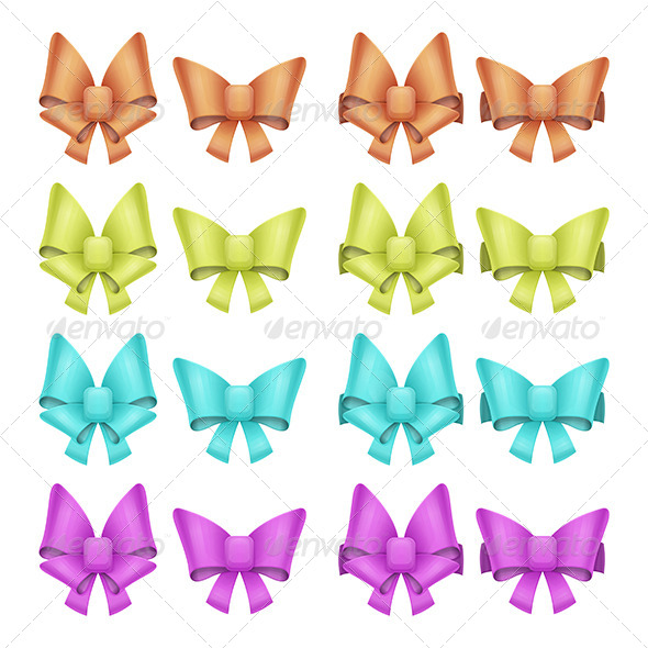 Set of Bows - Objects Vectors