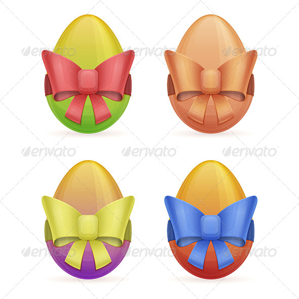 Egg with Bow - Objects Vectors
