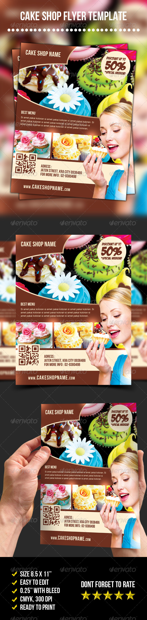 Cake Shop Flyer - Restaurant Flyers