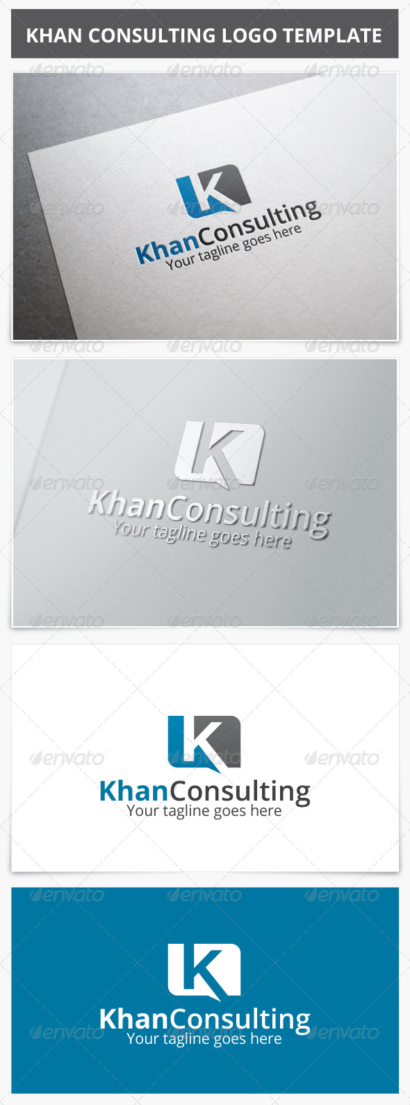 Khan Consulting Logo - Letters Logo Templates