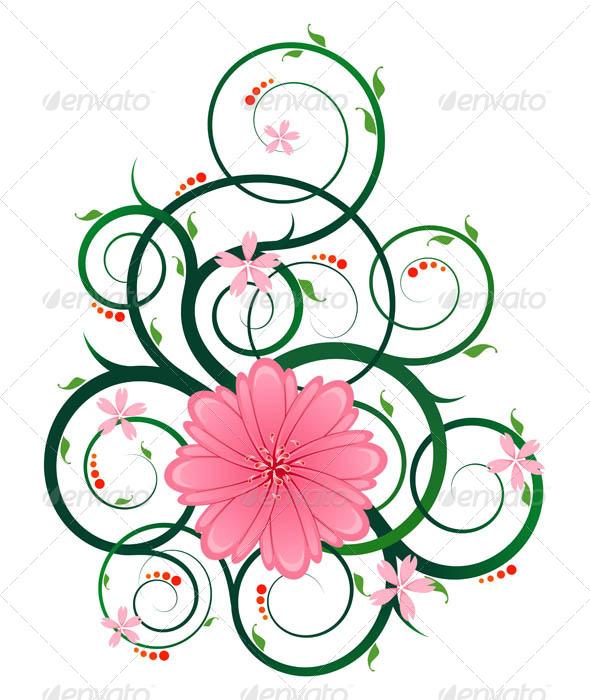 Floral Ornament - Flourishes / Swirls Decorative
