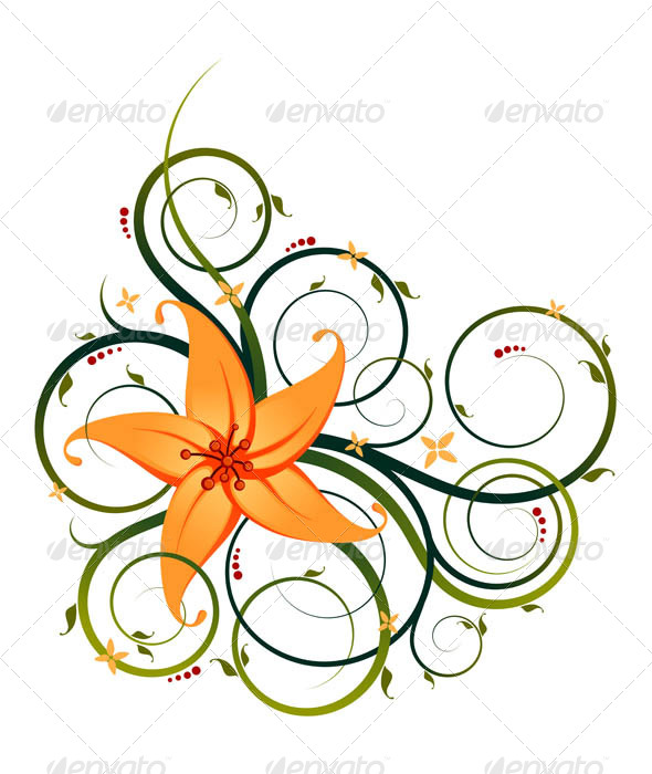 Floral Ornament - Flourishes / Swirls Decorative