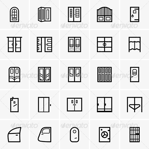 Door Icons - Buildings Objects