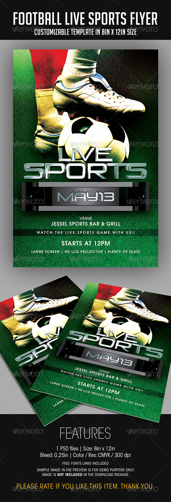 Football Live Sports Flyer - Sports Events