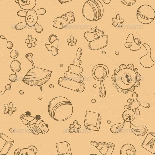 Seamless Children Background - Backgrounds Decorative