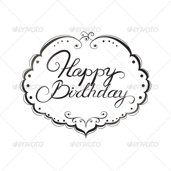 Happy Birthday Lettering - Decorative Symbols Decorative