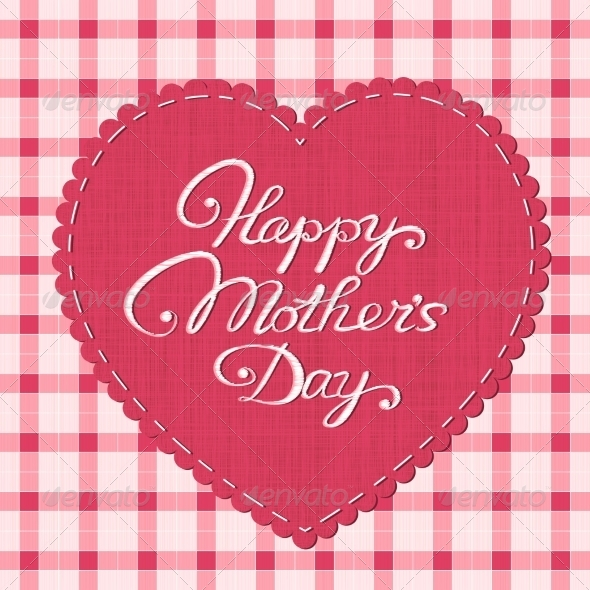 Happy Mother's Day Card - Decorative Symbols Decorative