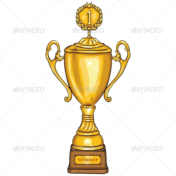 Cartoon Golden Cup - Sports/Activity Conceptual