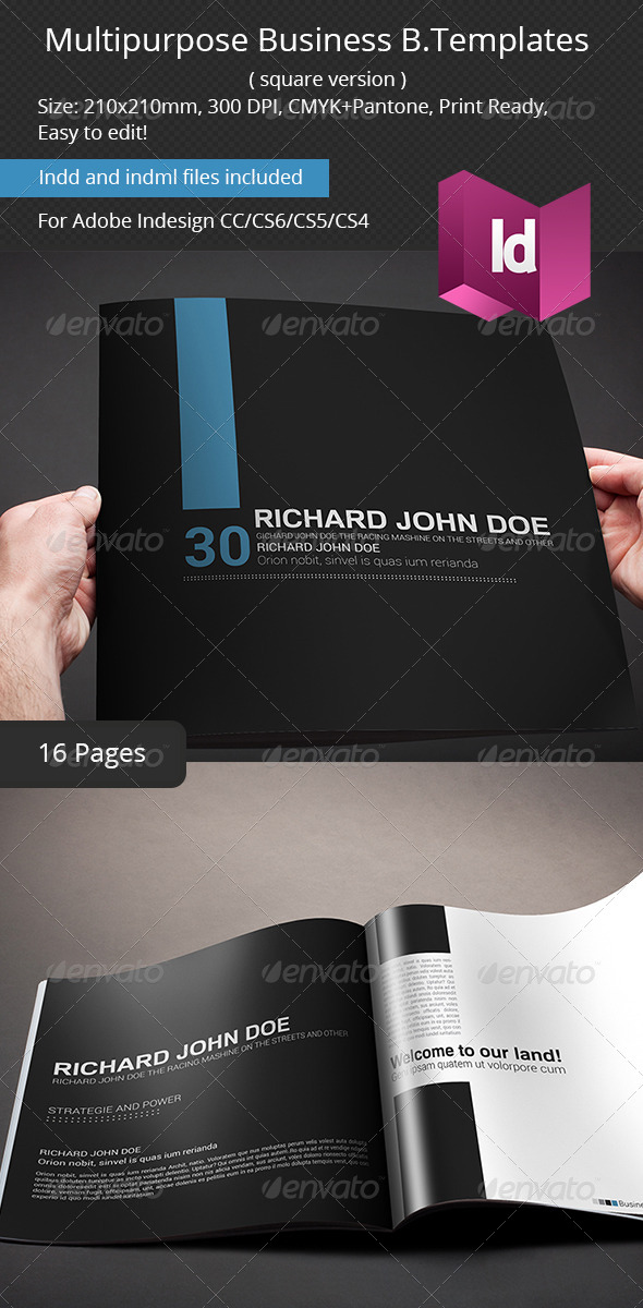 Multipurpose Business Brochure Square Version - Portfolio Brochures