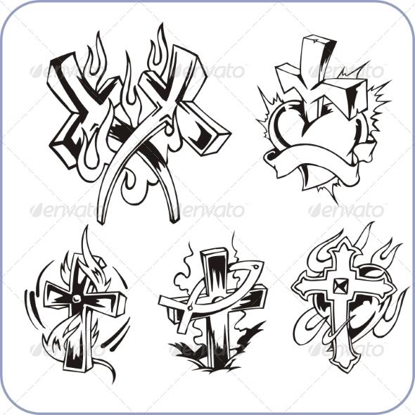 Christian Symbols - Religion Conceptual