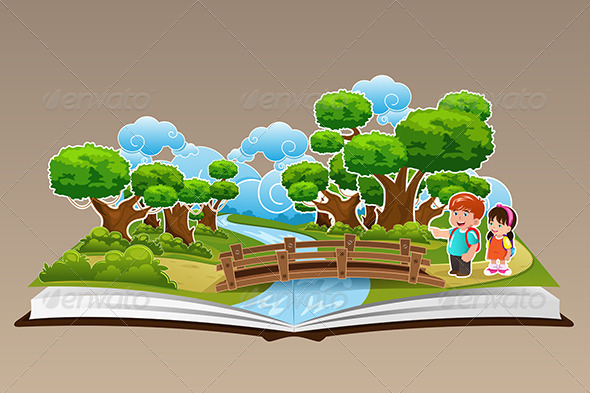 Pop Up Book with a Forest Theme - People Characters