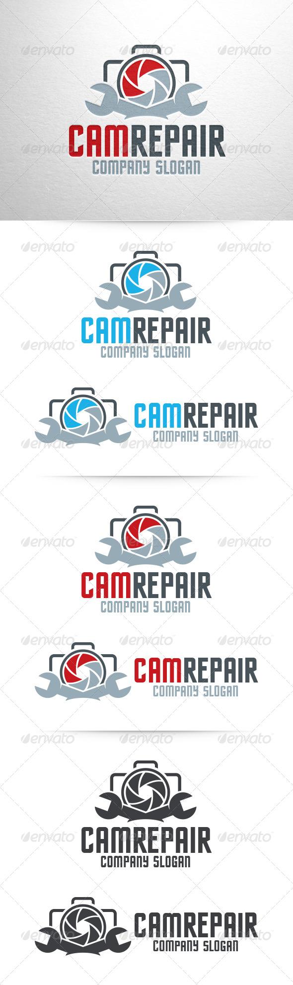 Camera Repair Logo - Objects Logo Templates