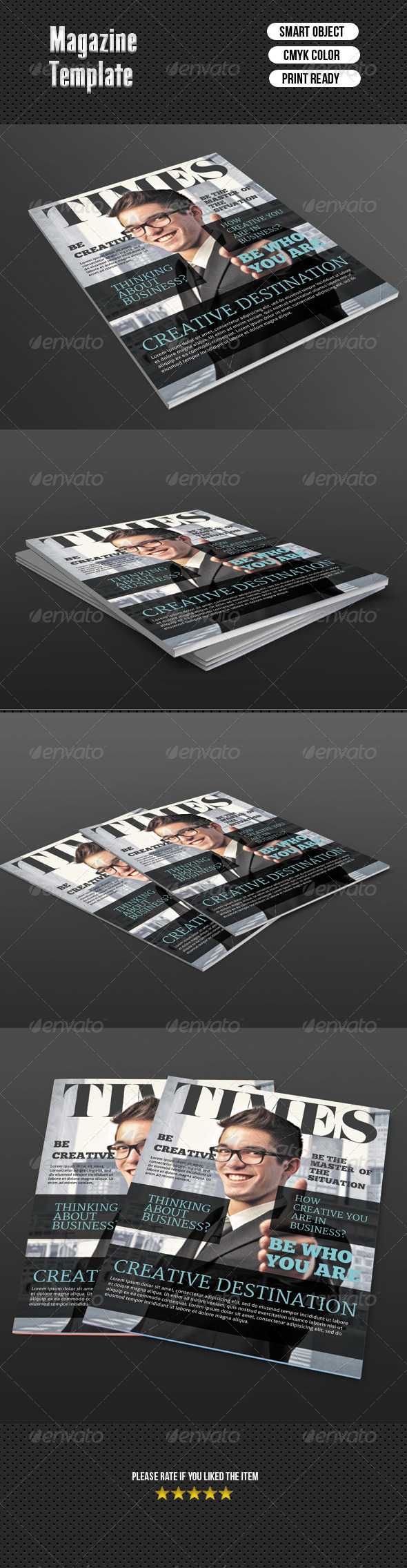 Magazine Cover Template - Magazines Print Templates