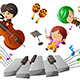 Kids Enjoying Playing Music - GraphicRiver Item for Sale