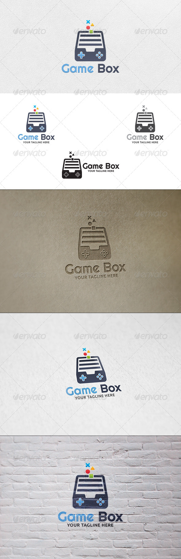 Game Box - Logo Template - Objects Logo Templates