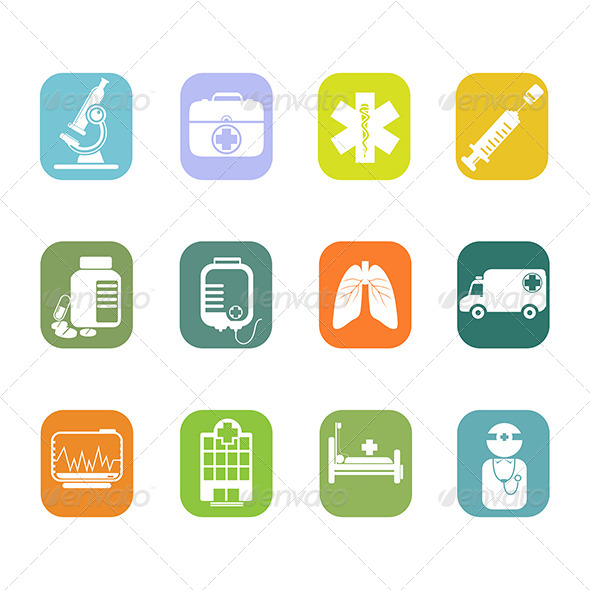 Medical Icons - Health/Medicine Conceptual