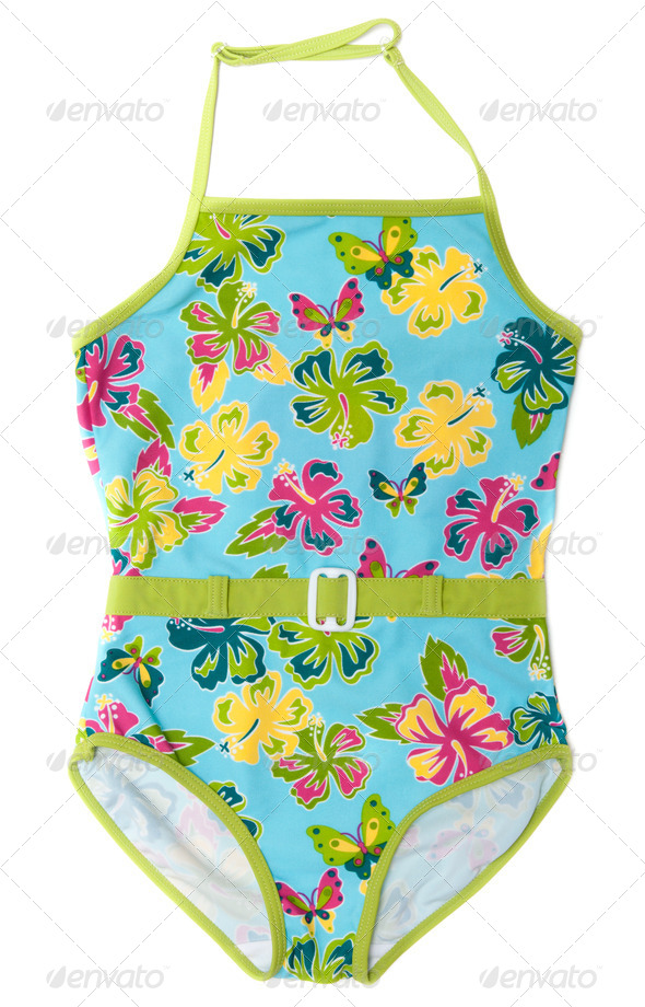 Baby colour swimsuit - Stock Photo - Images