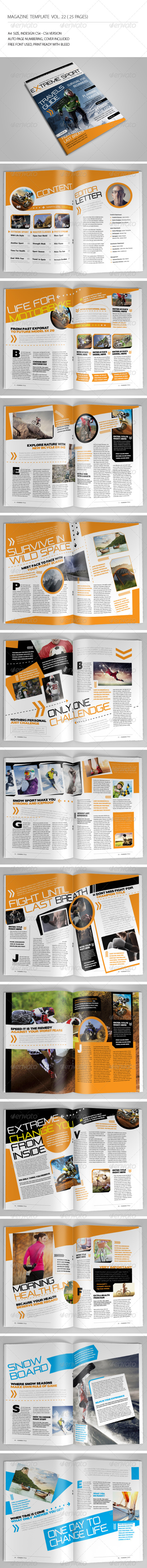25 Pages Sport Magazine Vol22 - Magazines Print Templates