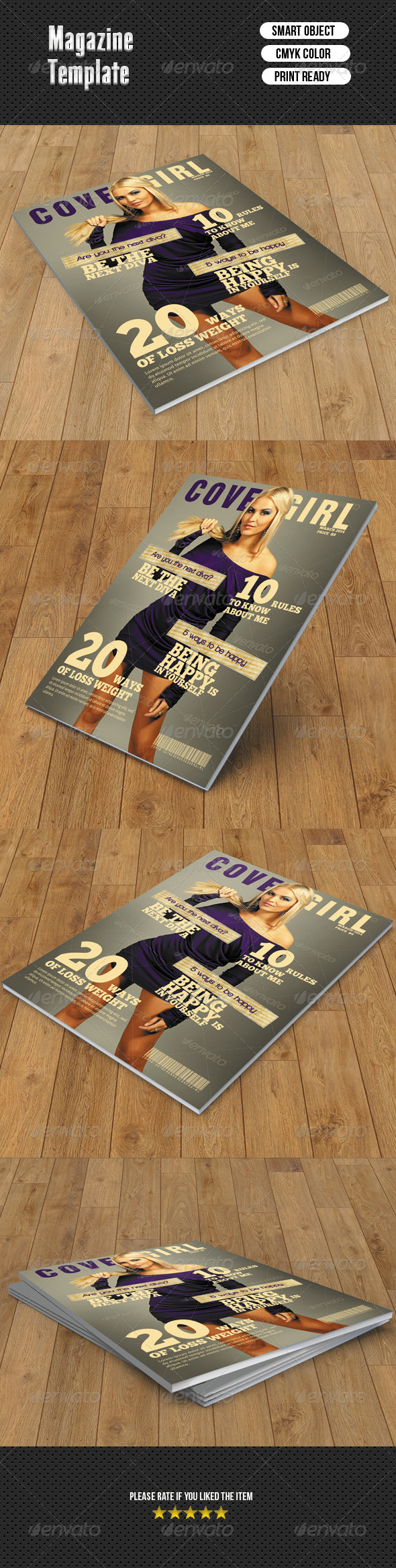 Fashion Magazine Cover - Magazines Print Templates