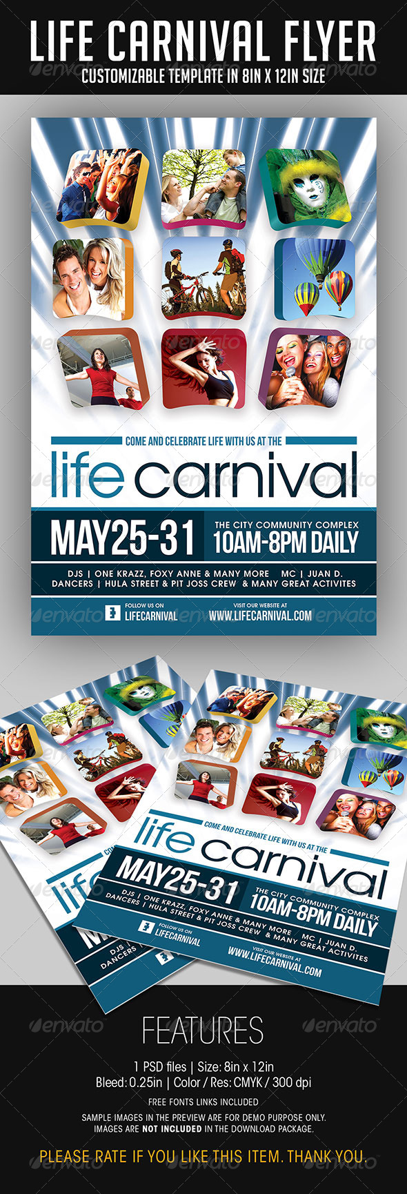 Life Carnival Flyer - Events Flyers