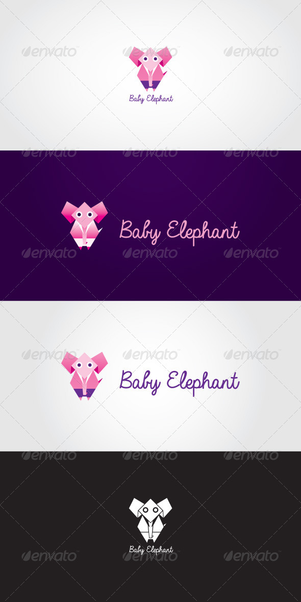 Baby Elephant Stock Logo Template - Animals Logo Templates
