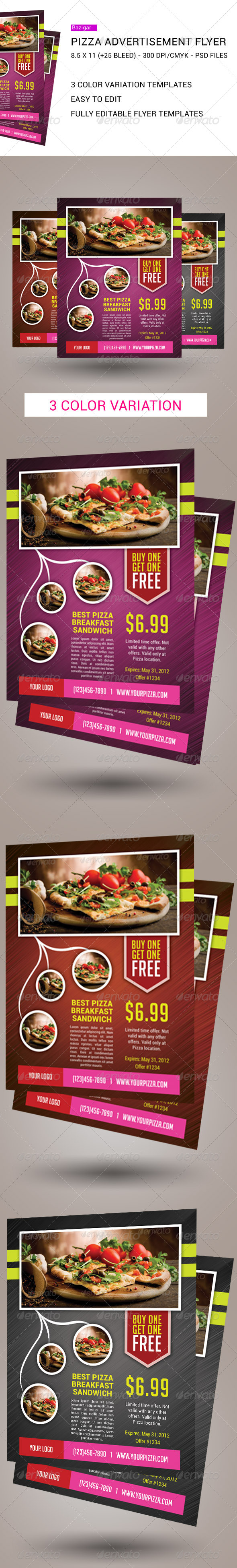 Ultimate Pizza Flyers  - Restaurant Flyers