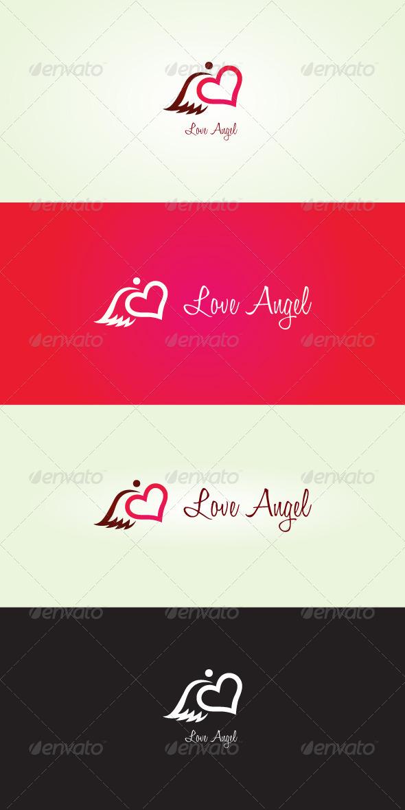 Love Angel Stock Logo Template - Symbols Logo Templates
