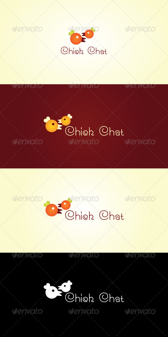 Chick Chat Stock Logo Template - Nature Logo Templates