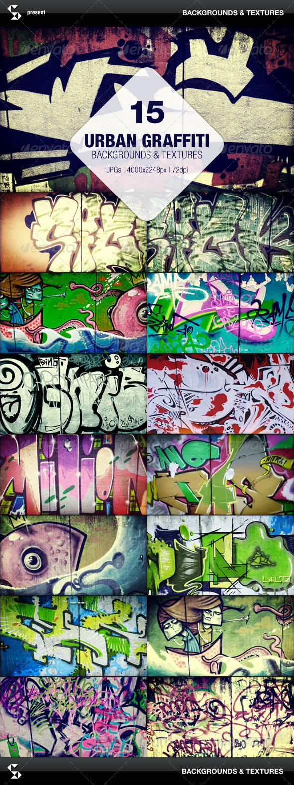 15 Urban Graffiti Backgrounds - Urban Backgrounds