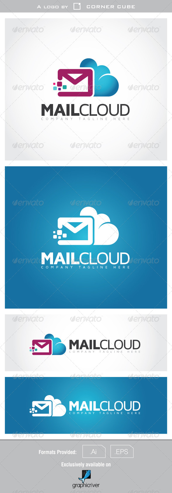 Mail Cloud Logo - Logo Templates