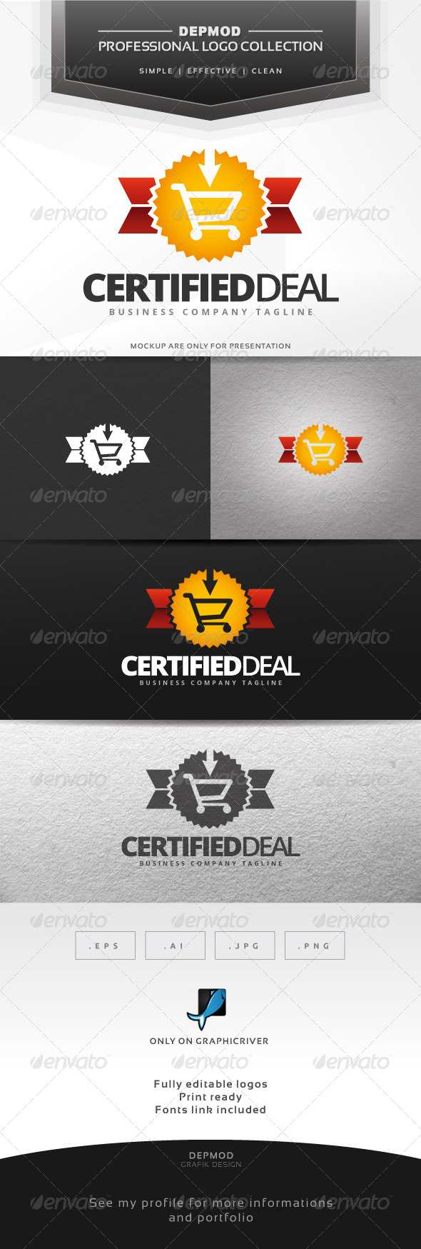 Certified Deal Logo - Symbols Logo Templates