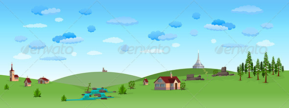 Nature Landscape with Blue Sky - Nature Conceptual
