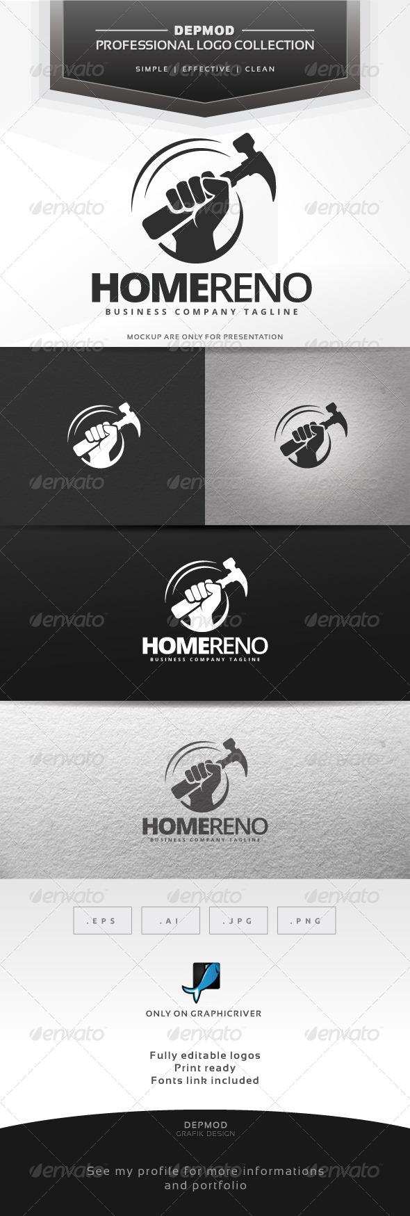 Home Reno Logo - Symbols Logo Templates